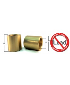 EBCB060804 | Lead Free Cast Bronze Sleeve Bushing | 3/8  ID x 1/2  OD x 1/2  OAL