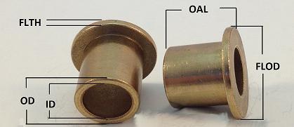 Oilite Bushing Bronze 5//16 id x 1//2 od x 3//4 long Bearing New B42 bearing sleeve