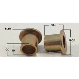 1 Oilite Bronze Bushing 3//16 id x 1//4 od x 1//4 Length Sleeve Bearing Spacer-New