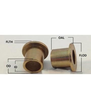 FF-1001 | Oil Impregnated Bronze Flanged | 7/8 ID x 1 OD x 1 OAL x 1.25 FLOD x 1