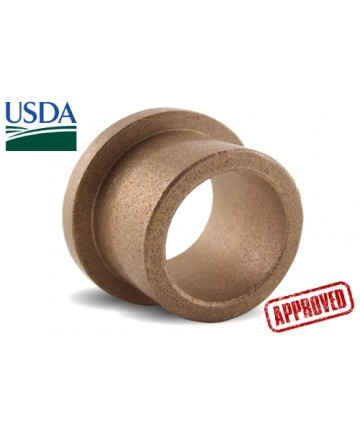 ECOF060816   USDA Approved Oil Impregnated Flanged   3/8 ID x 1/2 OD x 1 OAL x 1