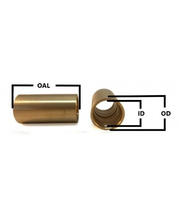 M70-3225 Bronze Metric Spring Eye Bushing with Spira-lube Groove