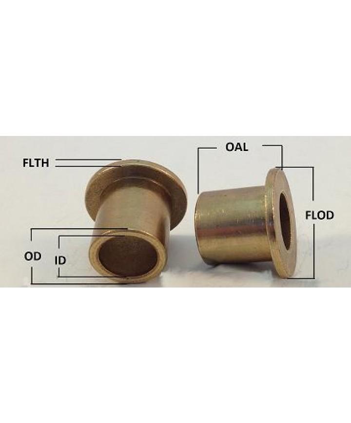"Flanged Sleeve Bearing--SAE 863 Iron//Bronze-5//8/""ID Dia-3//4/""OD-1/""Length"