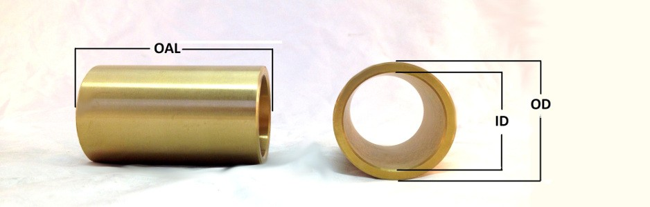 "Sleeve 3//4/"" OD x 7//16/"" ID x 1/"" Long 4 Pcs Steel Bushing"