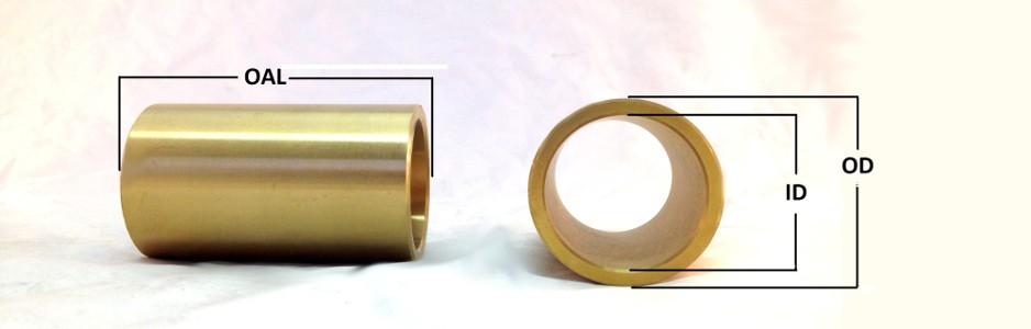 "Oilite Bronze Bushing 1/"" id x 1 1//8/""od x 1/"" Length Sleeve Bearing Spacer-New"