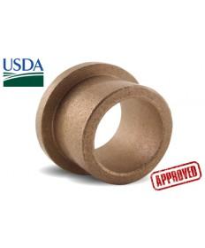 ECOF060816 | USDA Approved Oil Impregnated Flanged | 3/8 ID x 1/2 OD x 1 OAL x 1