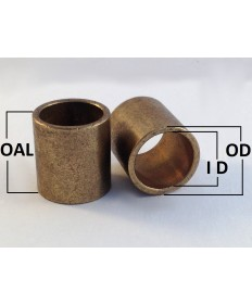 AA-502-2 | Oil Impregnated Bronze Sleeve | 3/8 ID x 1/2 OD x 1 OAL